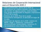 relaciones de cooperaci n internacional para el desarrollo aod 2