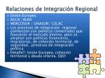 relaciones de integraci n regional