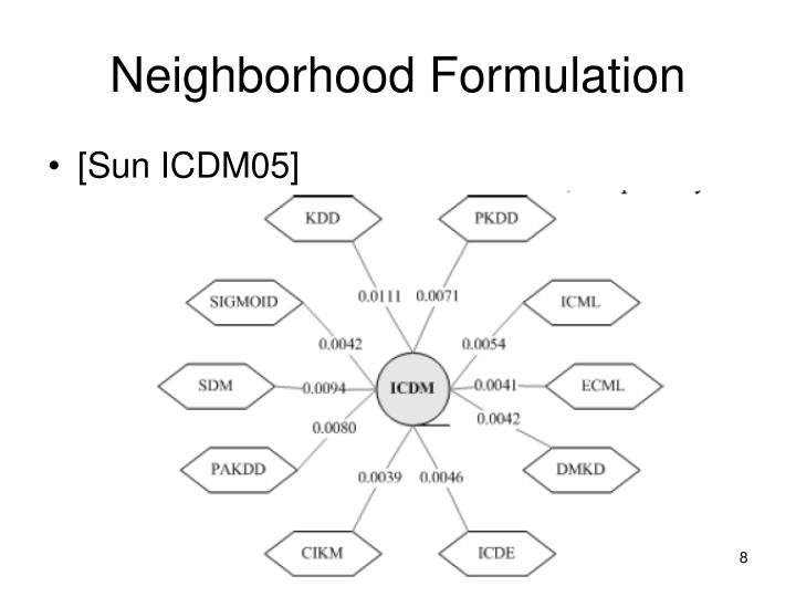 Neighborhood Formulation