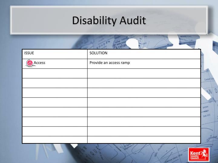 Disability Audit