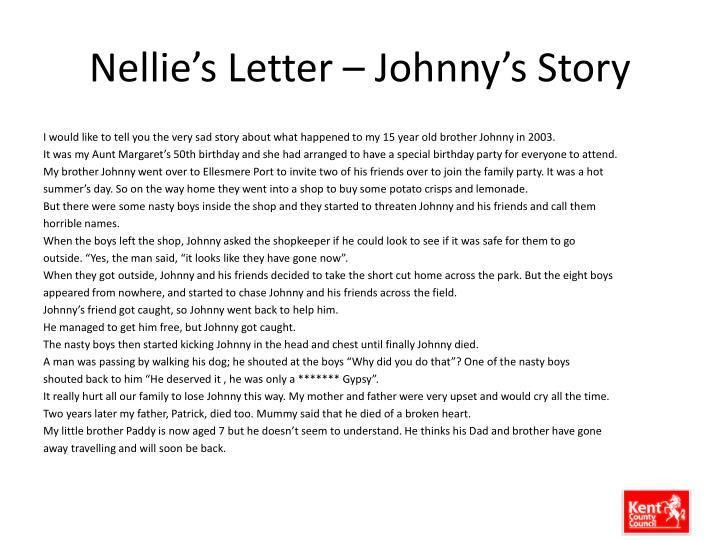 Nellie's Letter – Johnny's Story