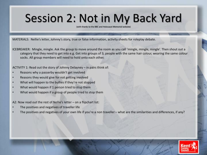 Session 2: Not in My Back Yard