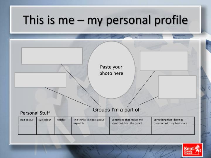 This is me – my personal profile