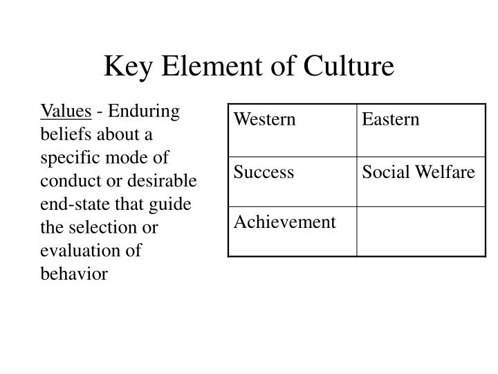 elements of culture Schein (1992) acknowledges that, even with rigorous study, we can only make statements about elements of culture, not culture in its entirety the approach which schein recommends for inquiring about culture is an iterative, clinical approach , similar to a therapeutic relationship between a psychologist and a patient.