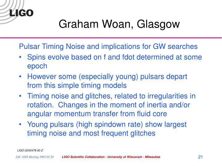 Graham Woan, Glasgow