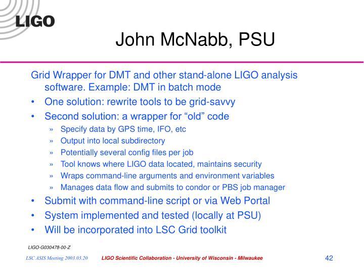 John McNabb, PSU