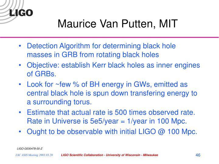 Maurice Van Putten, MIT