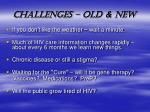 challenges old new