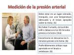 medici n de la presi n arterial