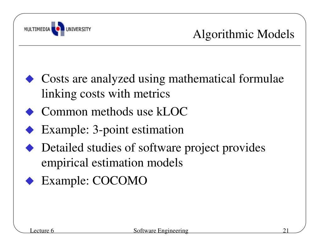 PPT - Software Cost Estimation PowerPoint Presentation - ID