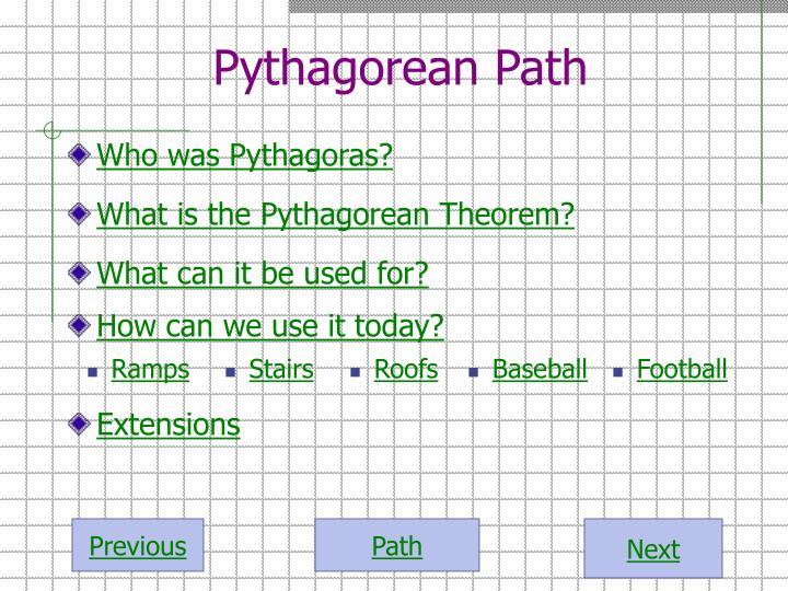 Pythagorean path