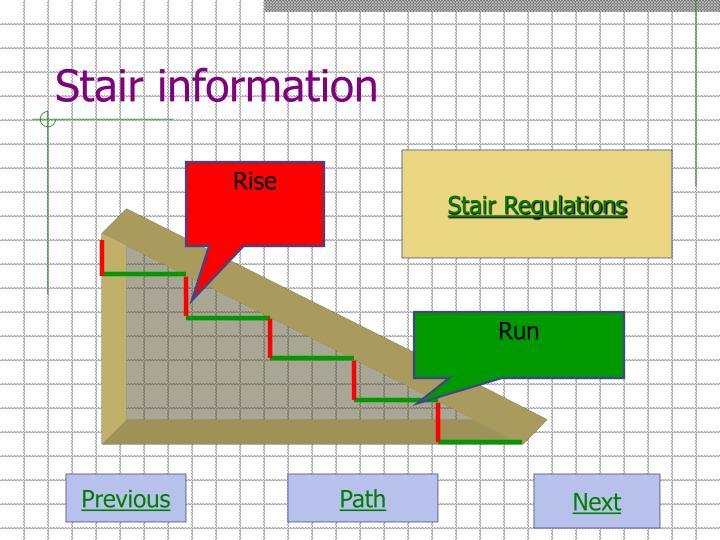 Stair information