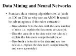 data mining and neural networks