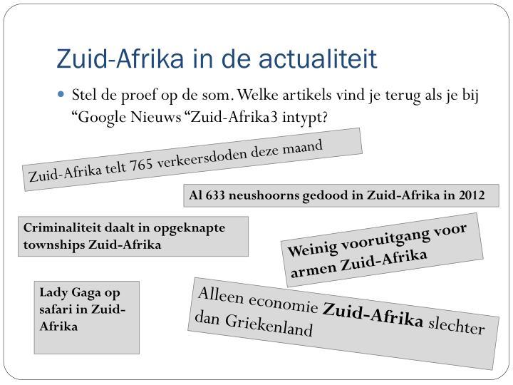 Zuid-Afrika in de actualiteit