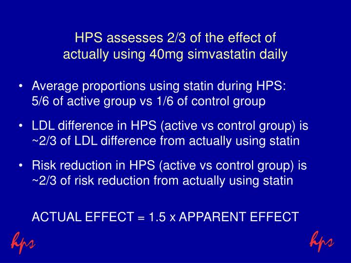 HPS assesses 2/3 of the effect of