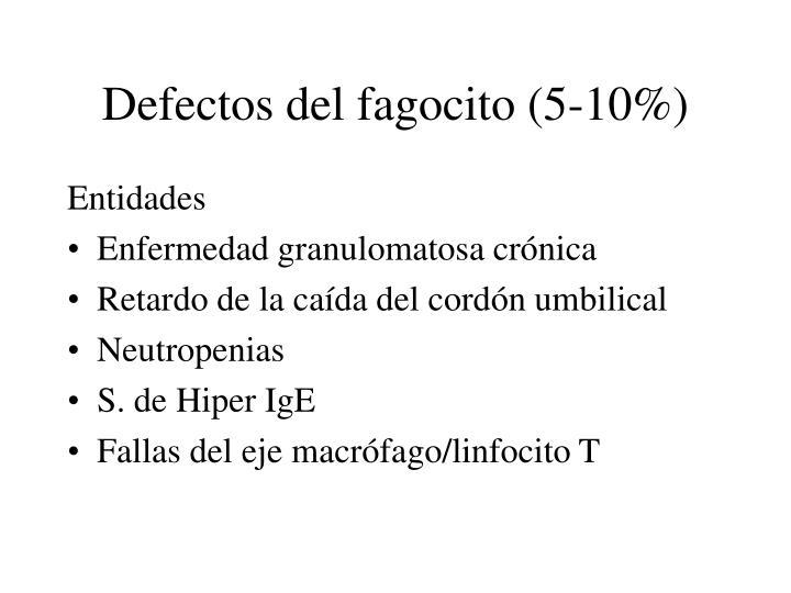 Defectos del fagocito (5-10%)