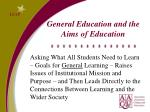 general education and the aims of education