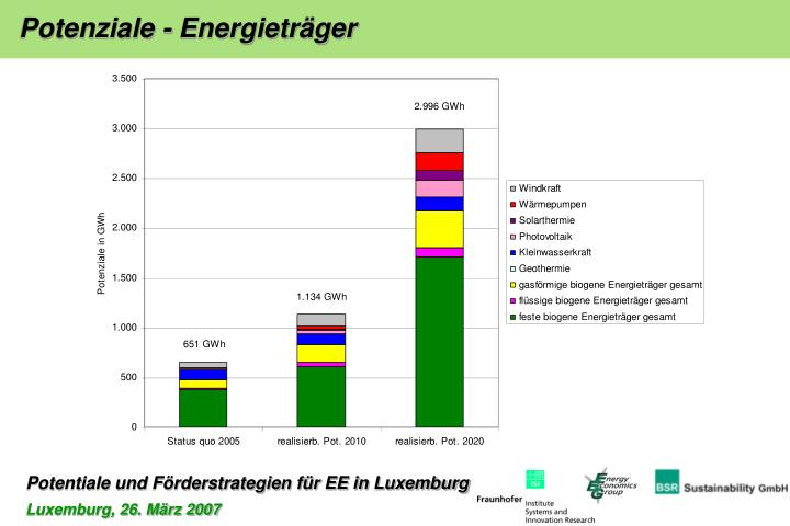 Potenziale - Energieträger
