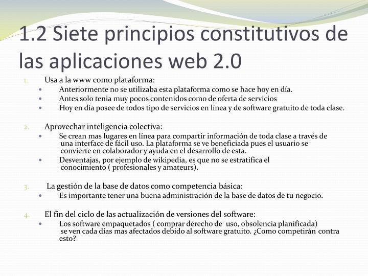 1.2 Siete principios constitutivos de las aplicaciones web 2.0