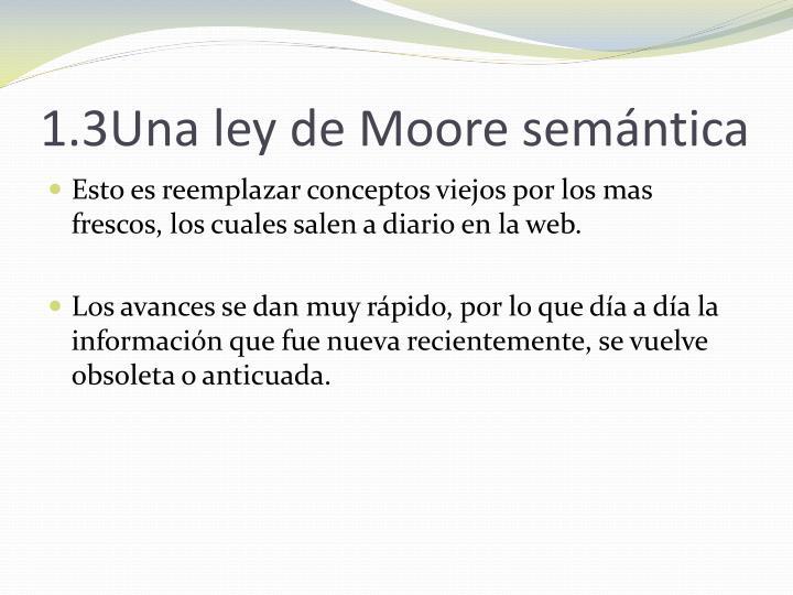 1.3Una ley de Moore semántica
