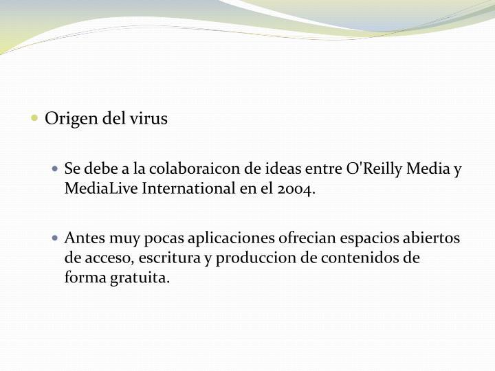 Origen del virus
