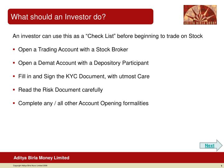 What should an Investor do?