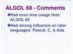 algol 68 comments