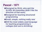 pascal 1971
