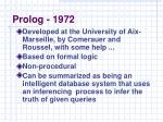 prolog 1972