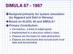 simula 67 1967