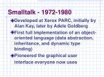 smalltalk 1972 1980