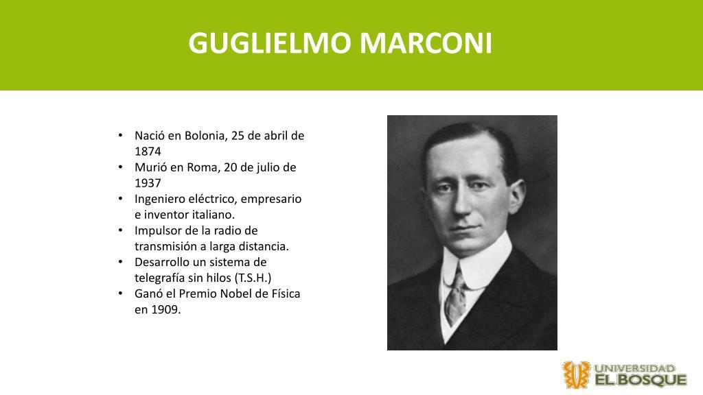 PPT - Electrotecnia Biografía Thomas Alva Edison y Guglielmo Marconi  PowerPoint Presentation - ID:6343162