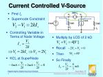 current controlled v source