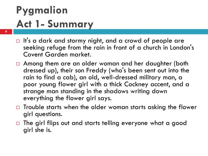 pygmalion summary