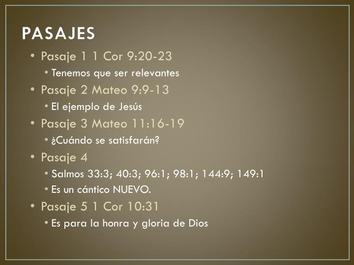 PASAJES