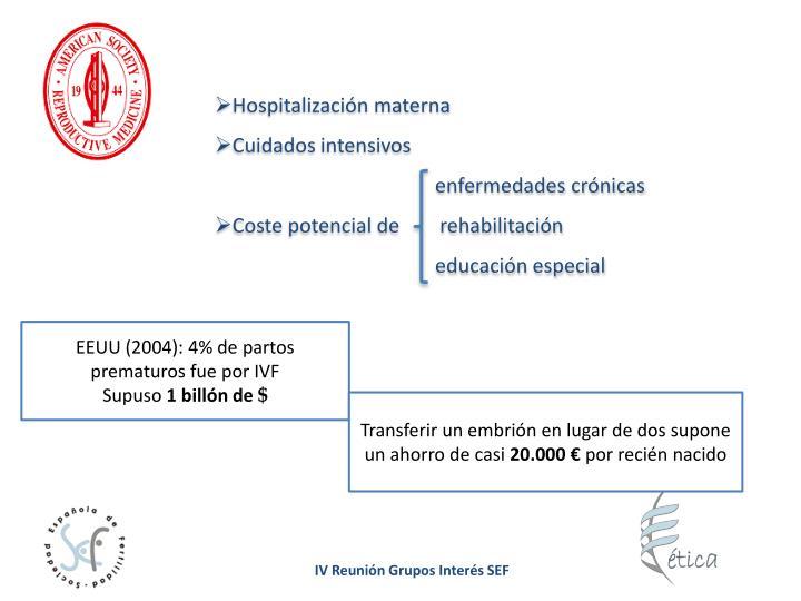 Hospitalización materna