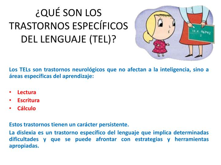 Qu son los trastornos espec ficos del lenguaje tel
