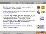 access egov project pilot applications