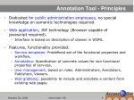 annotation tool principles