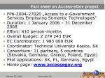 fact sheet on access egov project