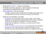 personal assistant client principles