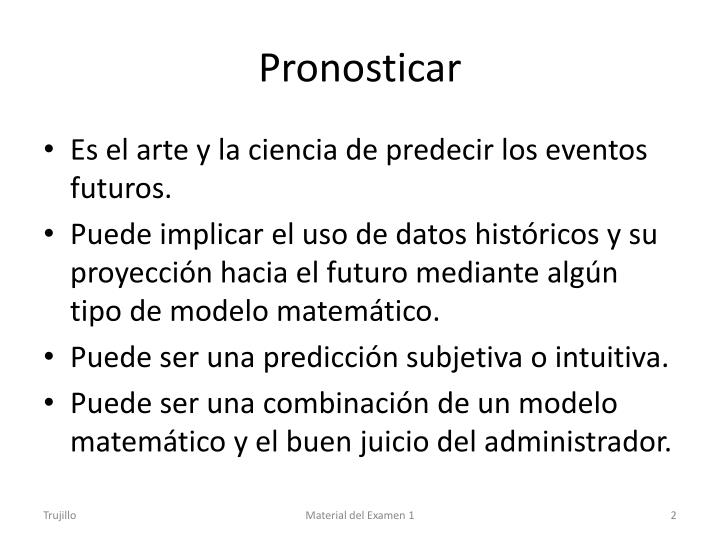 Pronosticar