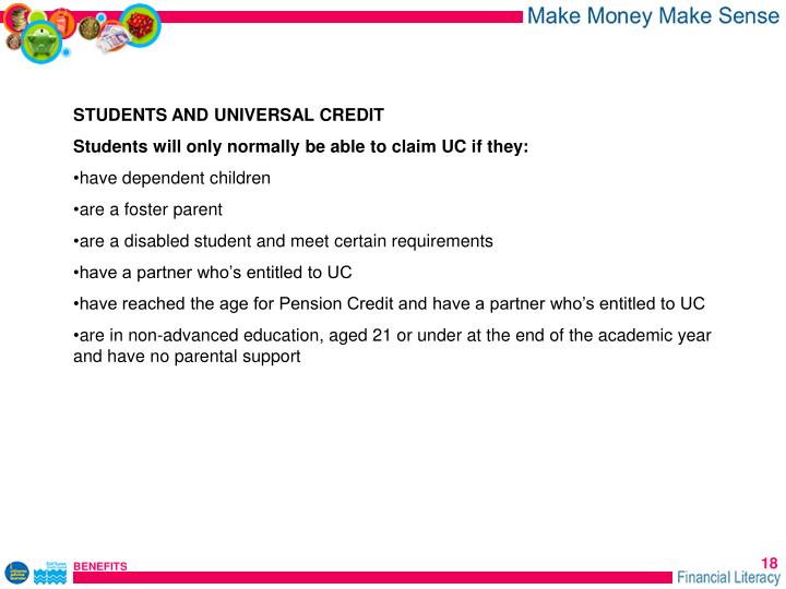STUDENTS AND UNIVERSAL CREDIT