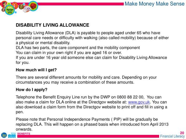 DISABILITY LIVING ALLOWANCE