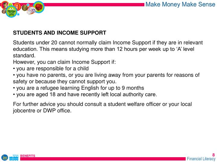 STUDENTS AND INCOME SUPPORT