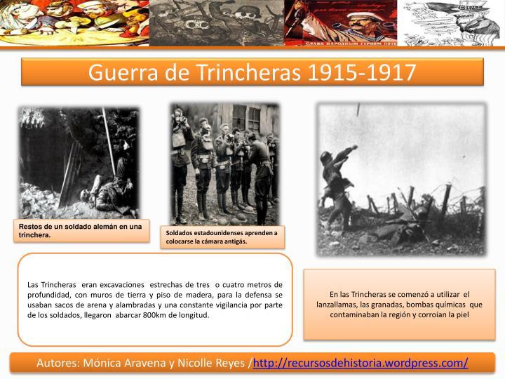 Guerra de Trincheras 1915-1917