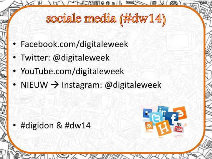 sociale media (#dw14)