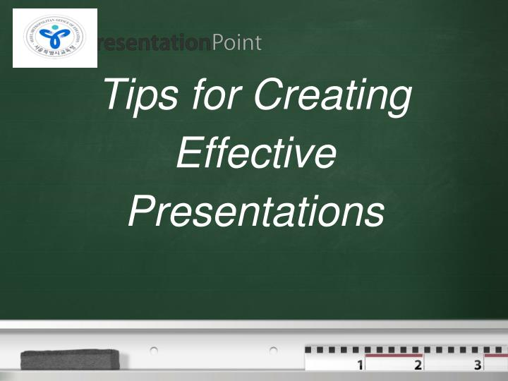tips for creating effective presentations n.