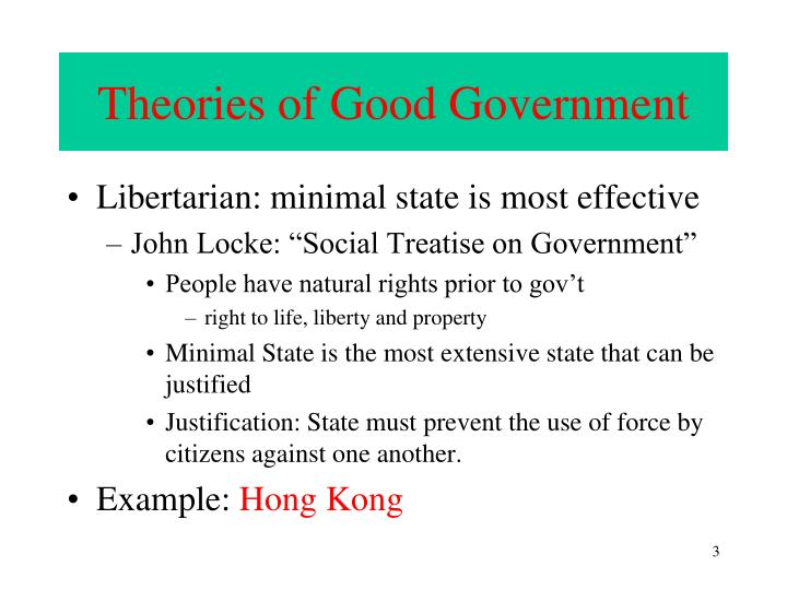 Theories of good government