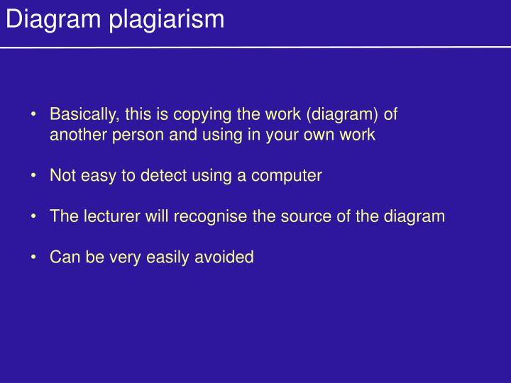 Diagram plagiarism